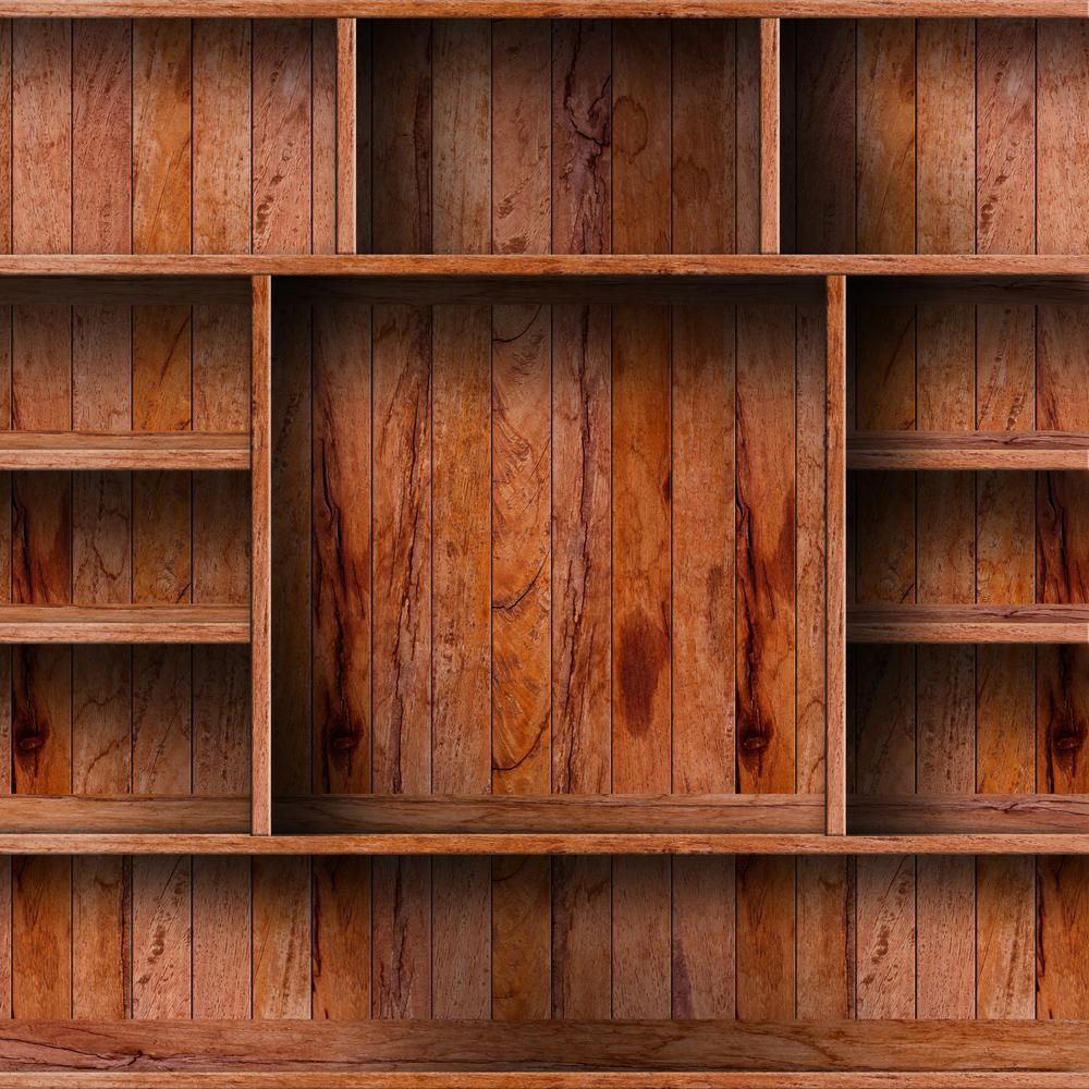 kasten van hout en staal